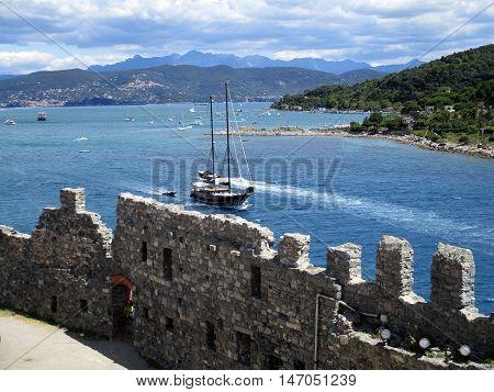 Top View Of The Coastline Around Portovenere U