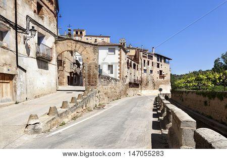 Old vilage in Teruel Province. Lledo in Matarranya