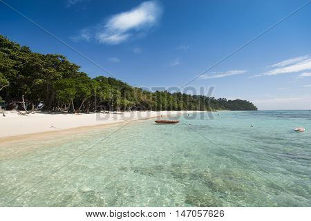 tropical beach with turquoise water, beautiful beach and tropical sea