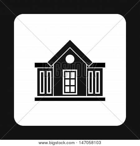 Mansion icon in simple style isolated on white background. Structure symbol vector illustration