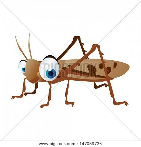 vector cartoon cute animals. Insects. Locust