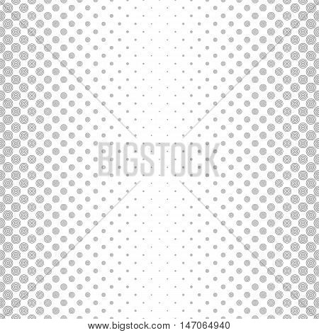 Repeat monochromatic vector circle pattern design background