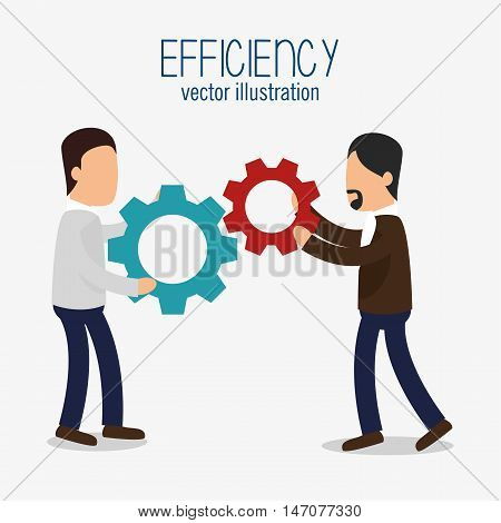 avatar efficiency work colaboration design isolated vector illustration esp 10