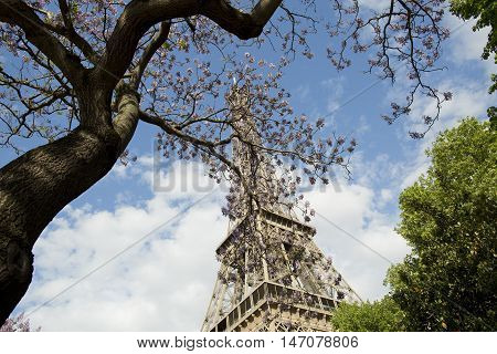 Magical and romantic Eiffel tower of Paris, EUROPA, France, european attraction.