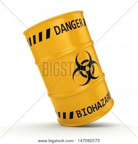 3D Rendering Biohazard Barrel