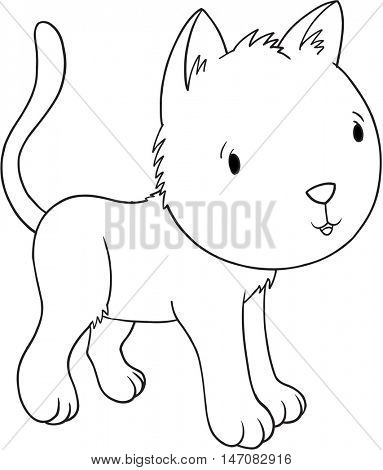 Doodle Cat Vector Illustration Art