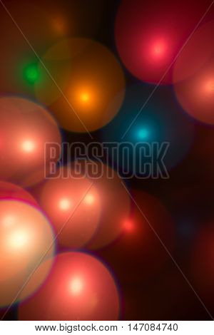 Multi color light effect - bubbles bokeh