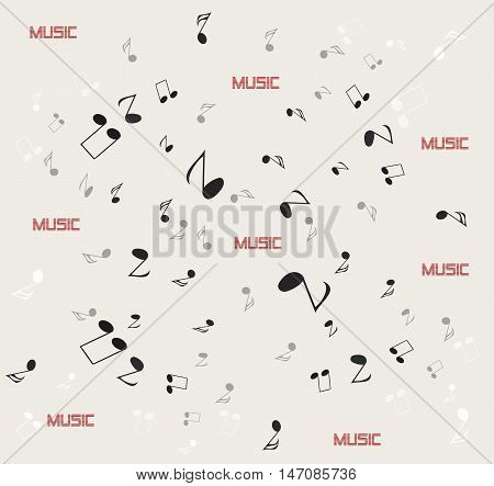 Notes pattern. Background music notes. Vector art