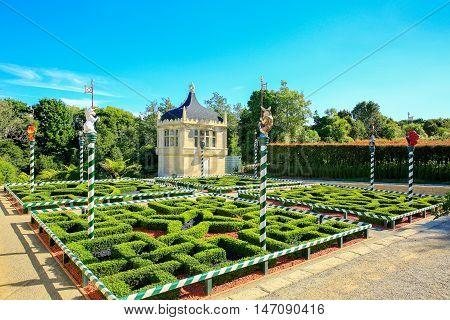 Hamilton, Nz - February 25, 2015: Tudor Garden In Hamilton Gardens