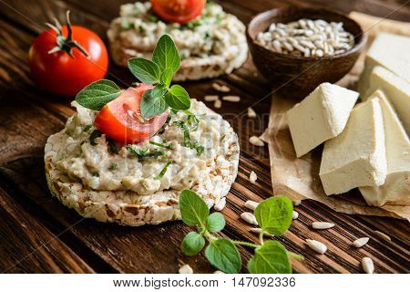 Tofu Spread With Sunflower Seeds, Onion And Parsley