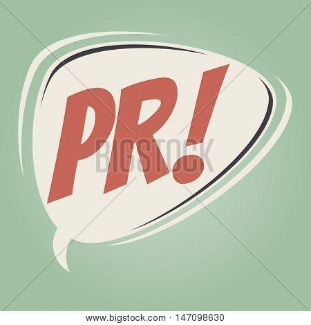 pr retro speech balloon