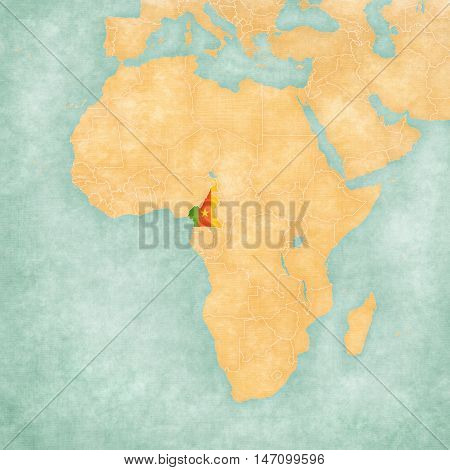 Map Of Africa - Cameroon
