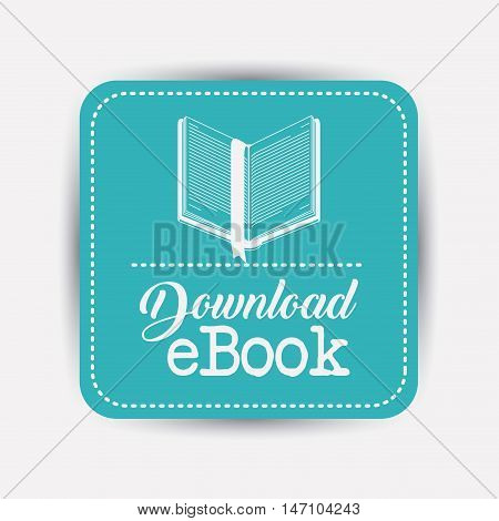 Ebook and label icon. Advertising digital and downloads theme. Colorful design. Vector illustration