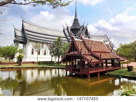 Sanphet Prasat Palace, Muang Boran, Ancient city Siam, Samut Prakan Province, Bangkok, Thailand