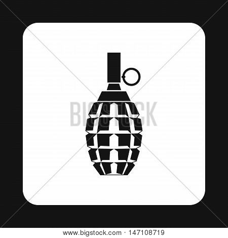Hand grenade icon in simple style on a white background vector illustration