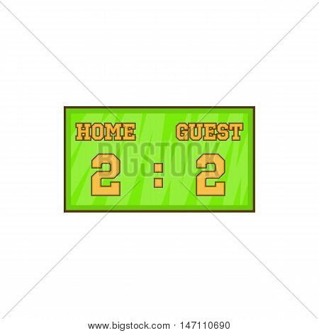 Baseball score board icon in cartoon style isolated on white background vector illustration