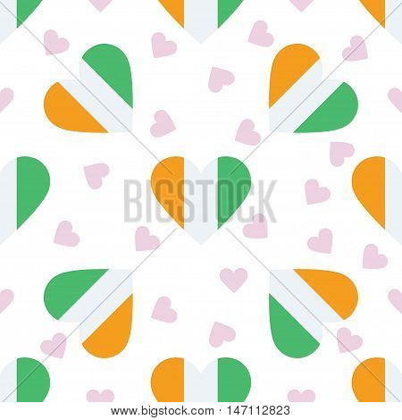 Cote D'ivoire Independence Day Seamless Pattern. Patriotic Background With Country National Flag In