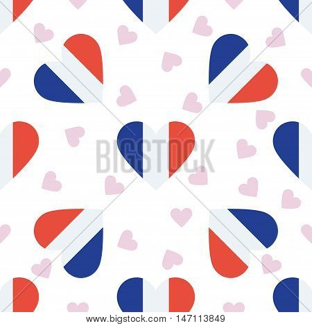 Wallis And Futuna Independence Day Seamless Pattern. Patriotic Background With Country National Flag