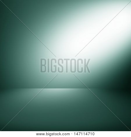 Light green gradient abstract background / dark green room studio background / for background or wallpaper your product montage