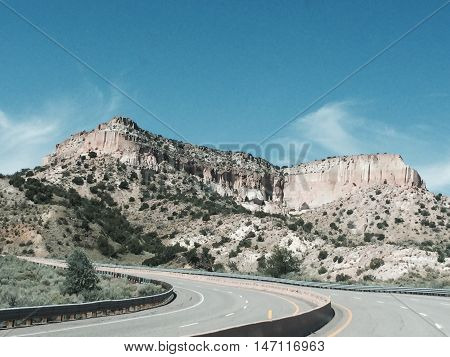 Mountain Highway In The Southwest