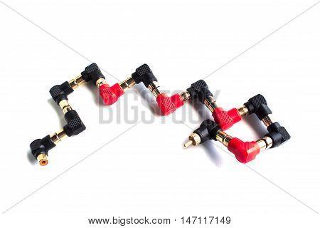 av or audio jack and connection  isolated, jack, plug, black,