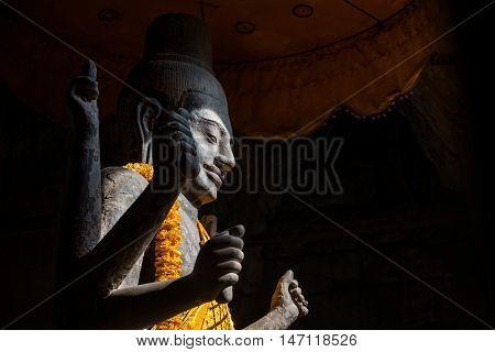 The Vishnu god statue in Angkor wat, Siem Reap, Cambodia.