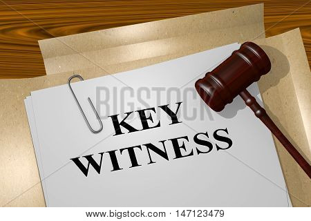 Key Witness - Legal Concept