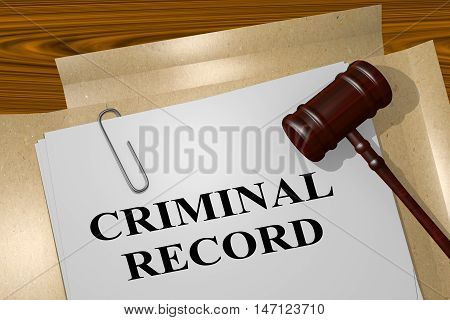 Criminal Record - Legal Concept