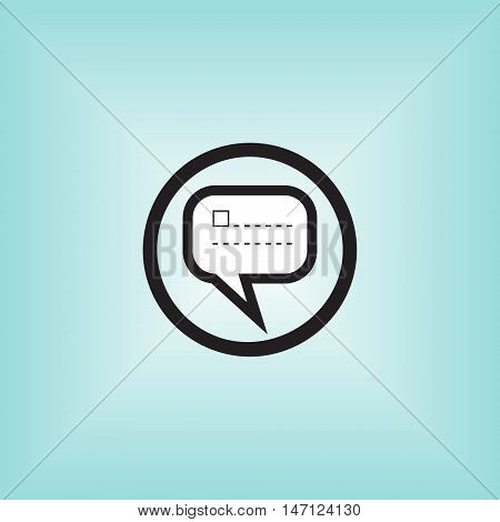 Message vector icon. New message isolated vector logo. Short message notification.
