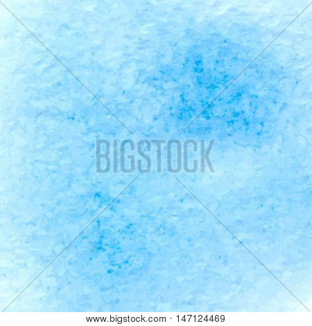 Vector blue watercolor splash background. Abstract hand paint watercolor textured blot