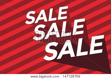 Sale banner with red background vector illustration