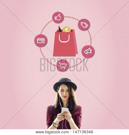 Shopping Online Buy Sale Concept
