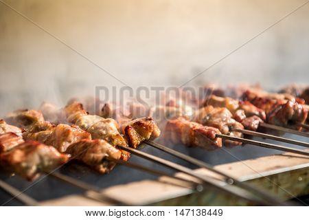 Delicious Barbecued Souvlaki