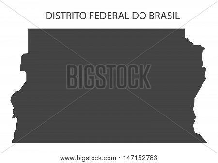 Distrito federal do Brasil map grey brazil vector high res