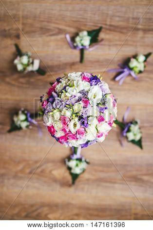 Bridal Bouquet And Buttonhole