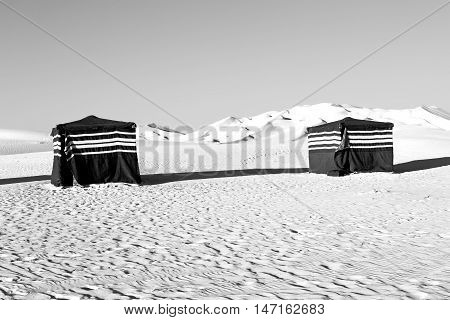 In Oman The Old Desert Empty Quarter And Nomad Tent Of Berber People