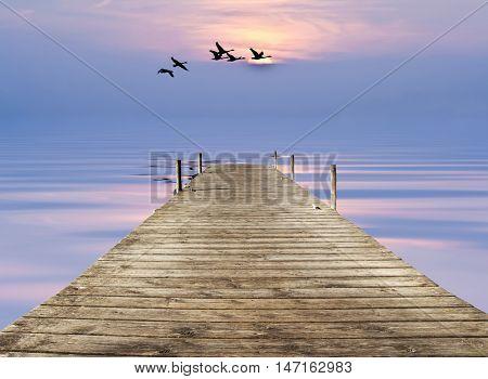 Pier at sea