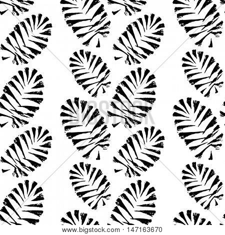 Pine cones seamless pattern. Hand drawn design for Christmas and New Year greeting cards, fabric, wrapping paper, invitation, stationery. 10eps