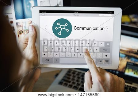 Telecommunications Network Webpage Screen Concept