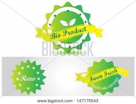 Bio badge loto vector, stamp eco isolated on simple background