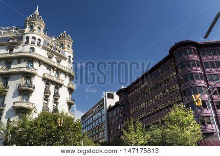 Barcelona (Catalunya Spain): residential buildings along the Avinguda Diagonal