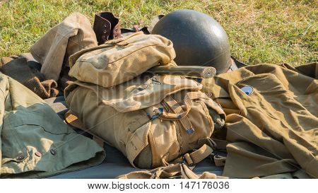 Bag Of The Us Military And Its Accessories