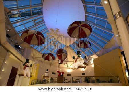 Christmas Decoration.Lights.Interior.Santa.Snowball