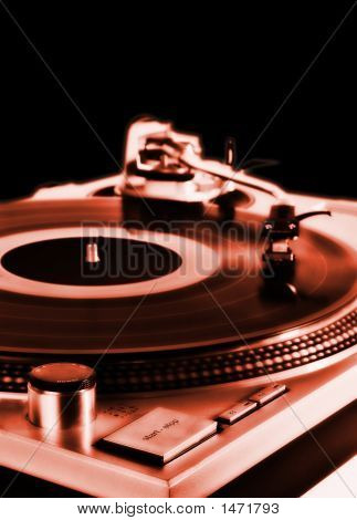 Turntable On Red
