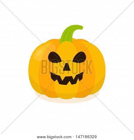 Halloween Pumpkin Icon. Isolated pumkin vector illustration.