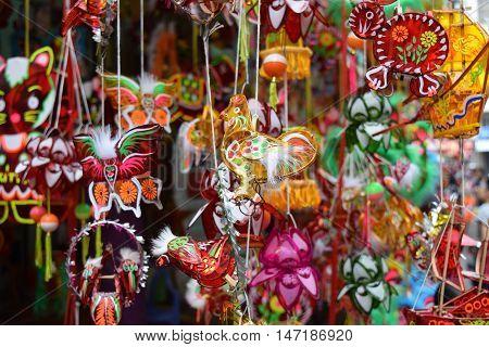 Colorful Lanterns Decoration In Mid-autumn Festival