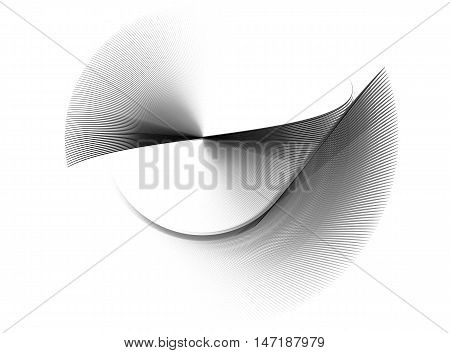 Black and white fractal. Abstract fractal computer-generated image. Fractal background