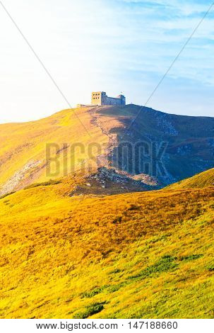 The old observatory on Mount Pip Ivan in Carpathians. Ukraine