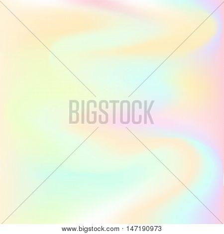 Hologram hipster background .Pastel colors background. Vector illustration