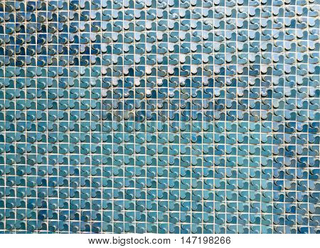 Colorful textrue pattern of ceramic tile wall as background